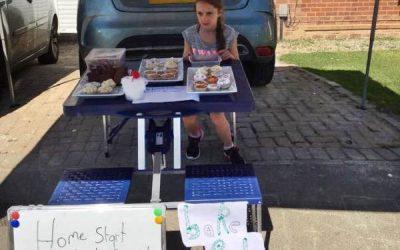 Freya's fundraising cake sale