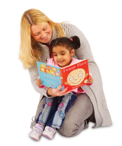 Asian child reading